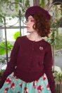 リボン刺繍ラメカーディガン  ¥12,800-<br> タルトプリントスカート¥18,800-<br> ネックレス 限定ノベルティ <br>--------------------<br> ベレー帽<br> (次シーズンアイテム)