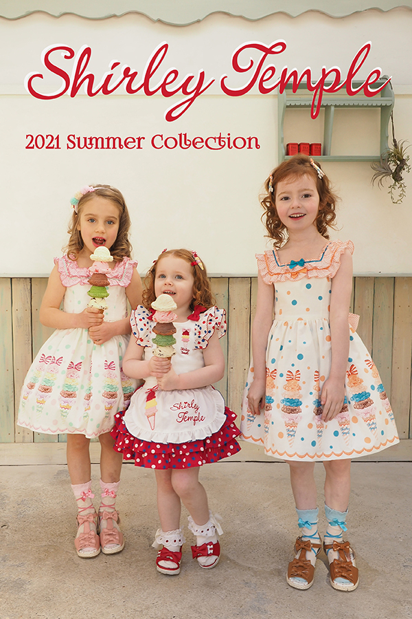 【Shirley Temple 2021 SUMMER COLLECTION】<br> Photographer_島添博子<br> Hair&Make_広田恭一<br> <br>-BABY-<br> May Macdonald<br>(height: 93cm/90cm着用)<br> <br> -TODDLER-<br> Taisia Gubanova<br>(height : 112cm /110cm着用)<br> <br> Elizabeth Krzysiak<br>(height : 114.5cm/110cm着用)<br> <br>